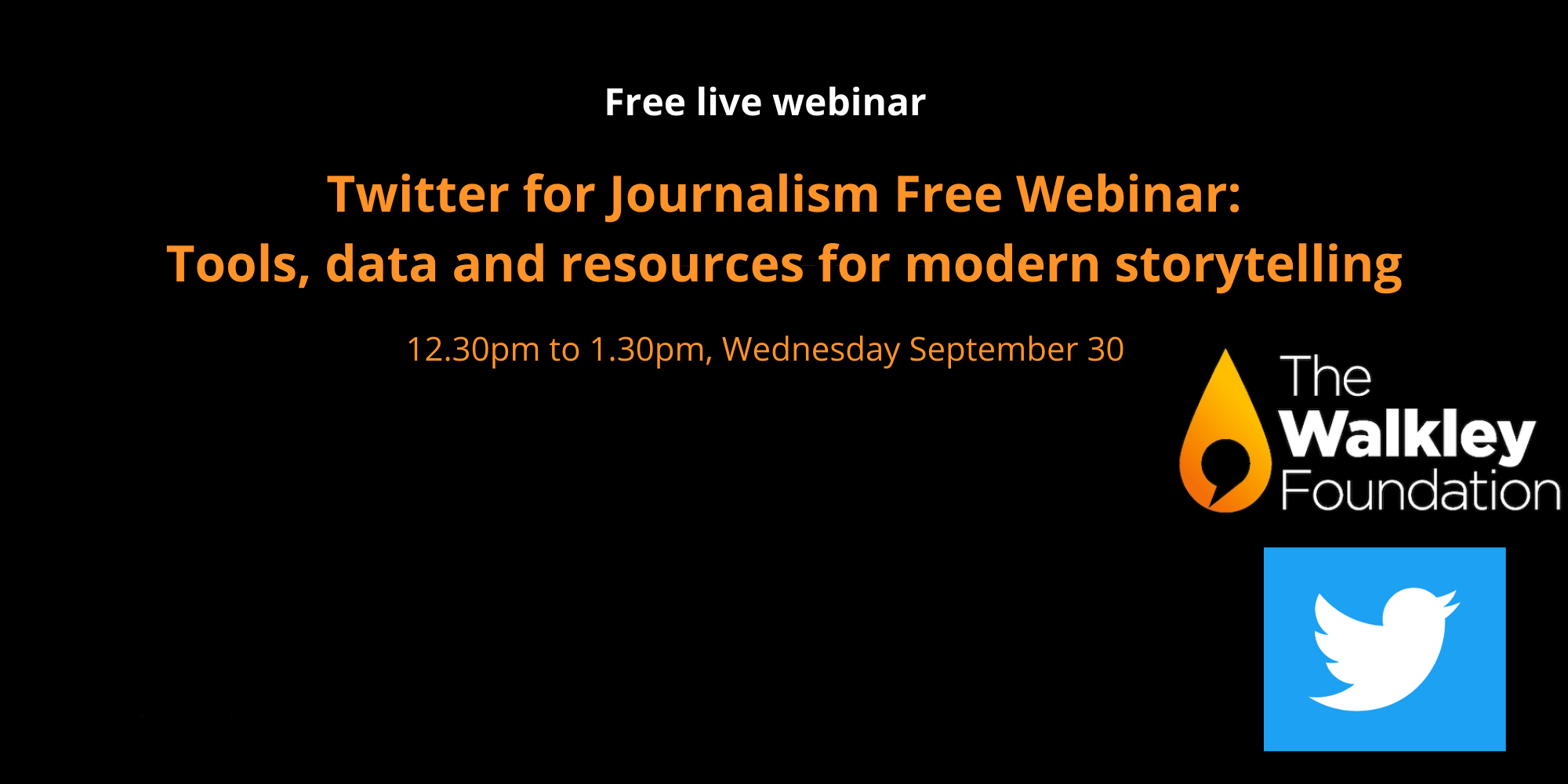 Twitter for Journalism free webinar: Tools, data and resources for modern storytelling