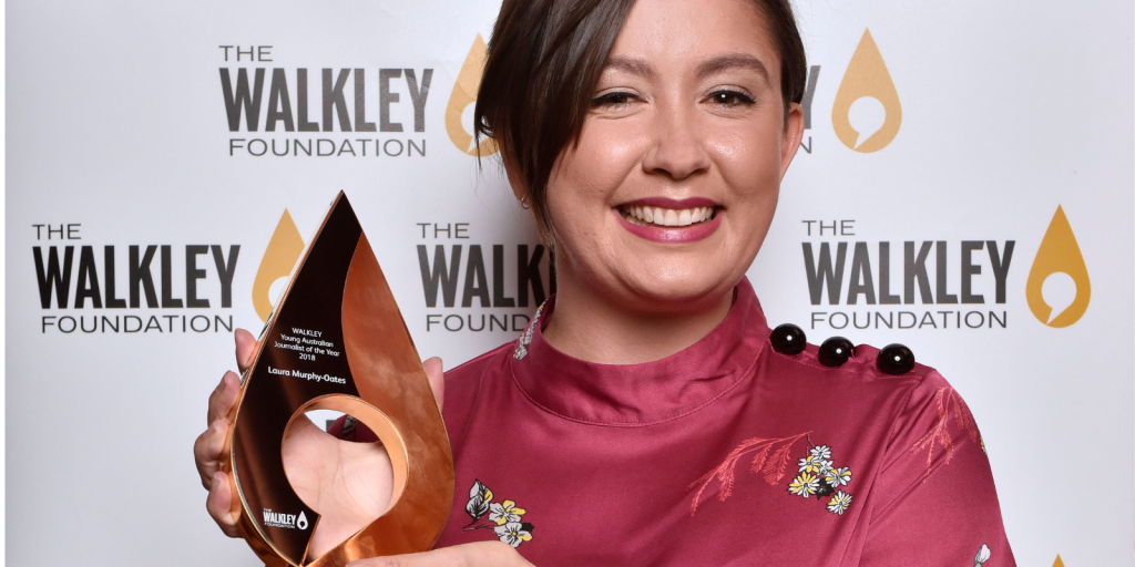 Laura Murphy Oates, winner of the 2018 Walkley Young Australian Journalist of the year