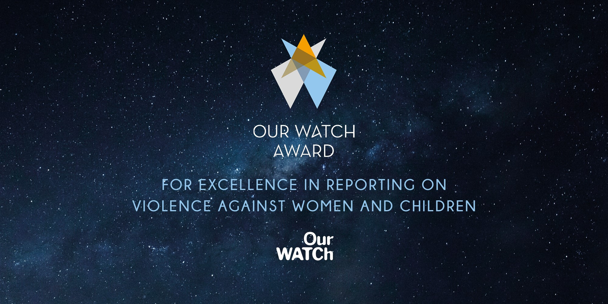 2020 Our Watch Award open for entries