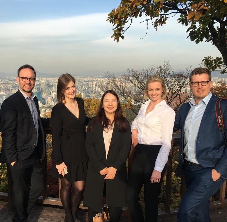 2018 Korea Exchange journalists Andrew, Phoebe, Haein Jung (Korea Press Foundation), Elysse and Eryk.