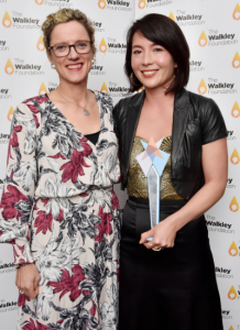 Our Watch CEO Patty Kinnersley and 2019 Our Watch Award winner Sarah Dingle.