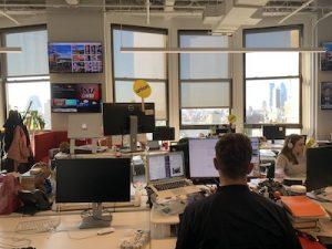 The Buzzfeed News newsroom. Photo: Oliver Gordon.