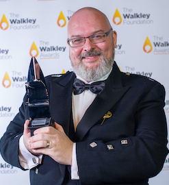 Baz McAlister at the 2019 Walkley Awards